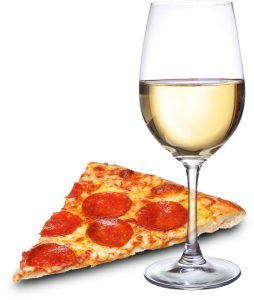 Pizza Night In Glass of Wine