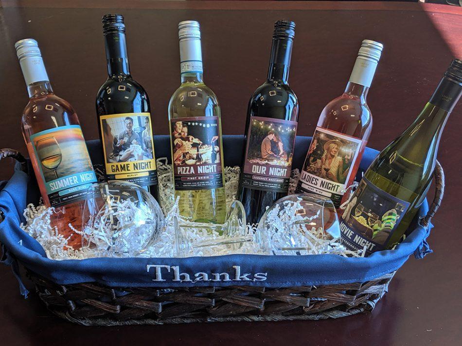 Game Night, Pizza Night, Movie Night, Gift Basket Wines