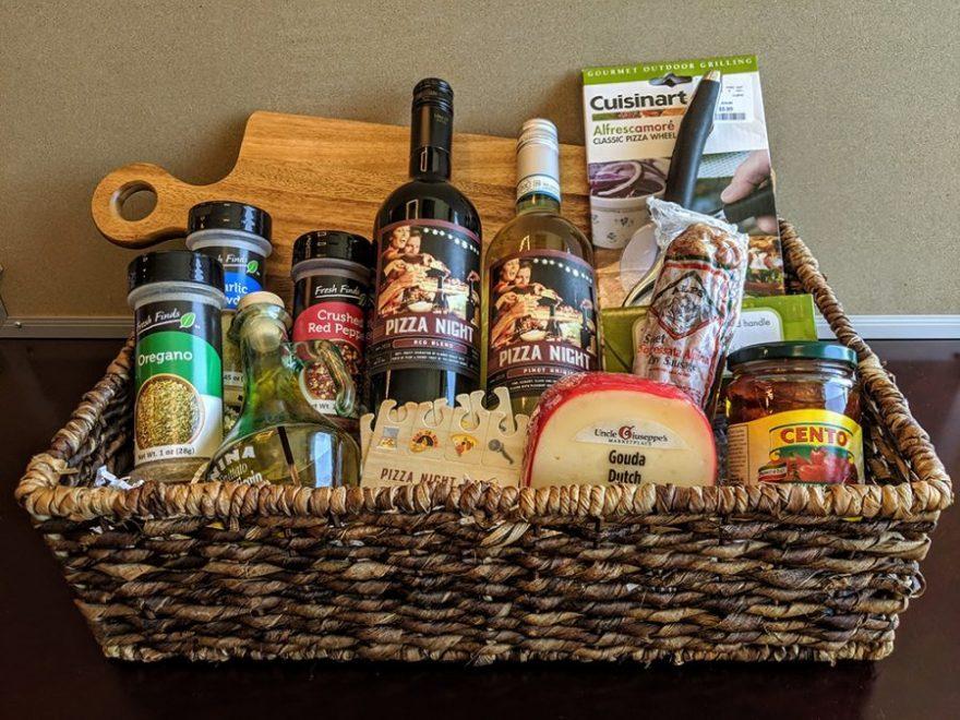 Pizza Night Gift Basket Idea