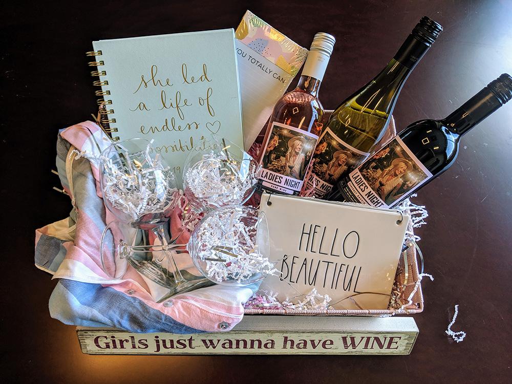 Ladies Night Gift Basket Idea