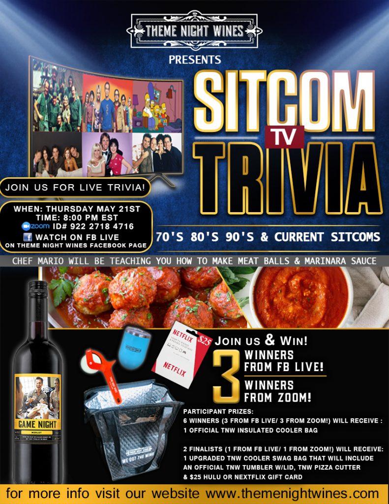 Sitcom TV trivia Event
