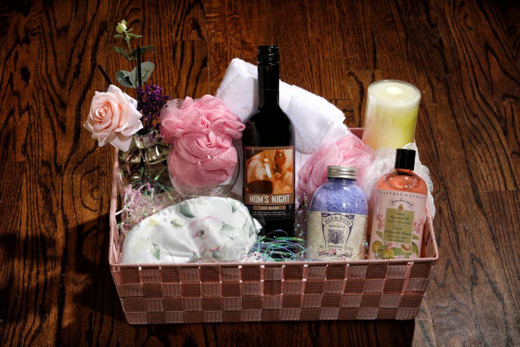 Mom's Night wine gift basket