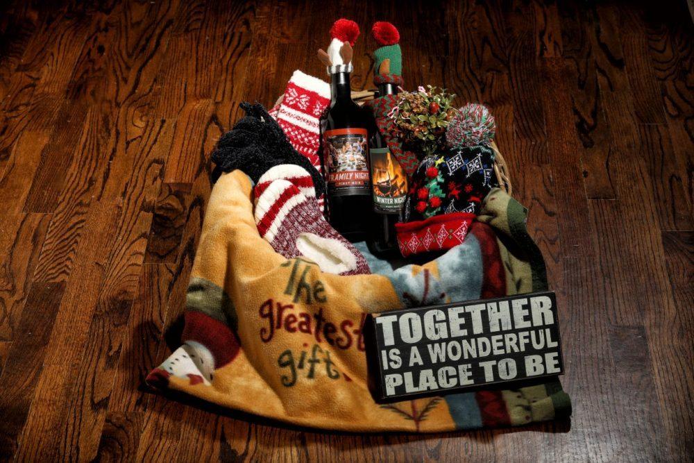 Winter Night and Framily Night wine basket