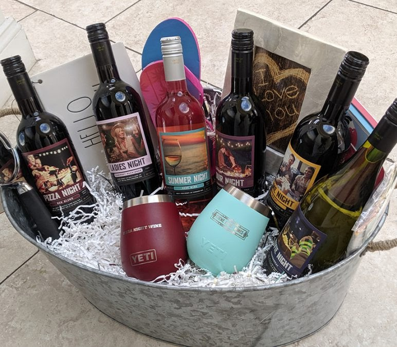 Theme Night Wines   Housewarming Gift Basket