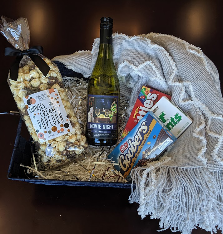 Theme Night Wines   Movie Night Gift Basket   Chardonnay