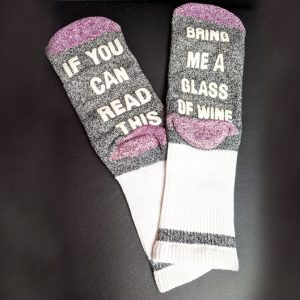 Wine Quote Socks