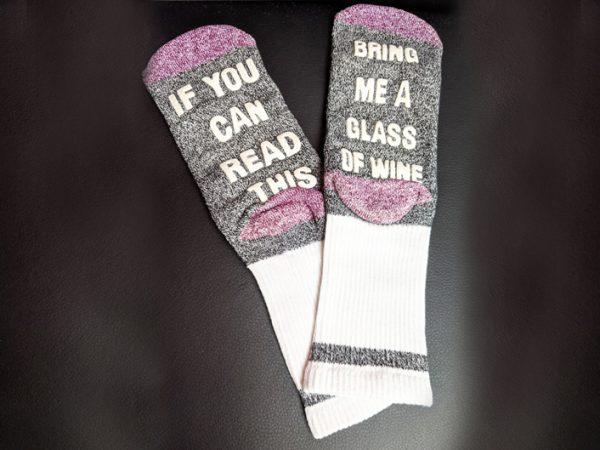 Theme Night Wines - Wine Quote Socks