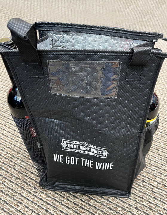 Theme Night Wines Cooler Bag