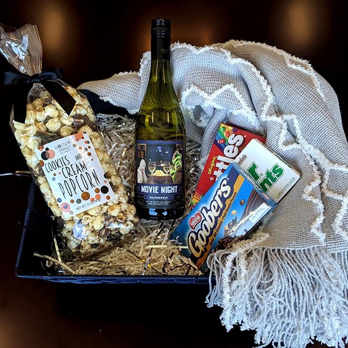 Theme Night WInes | Movie Night DIY Wine Basket under $25