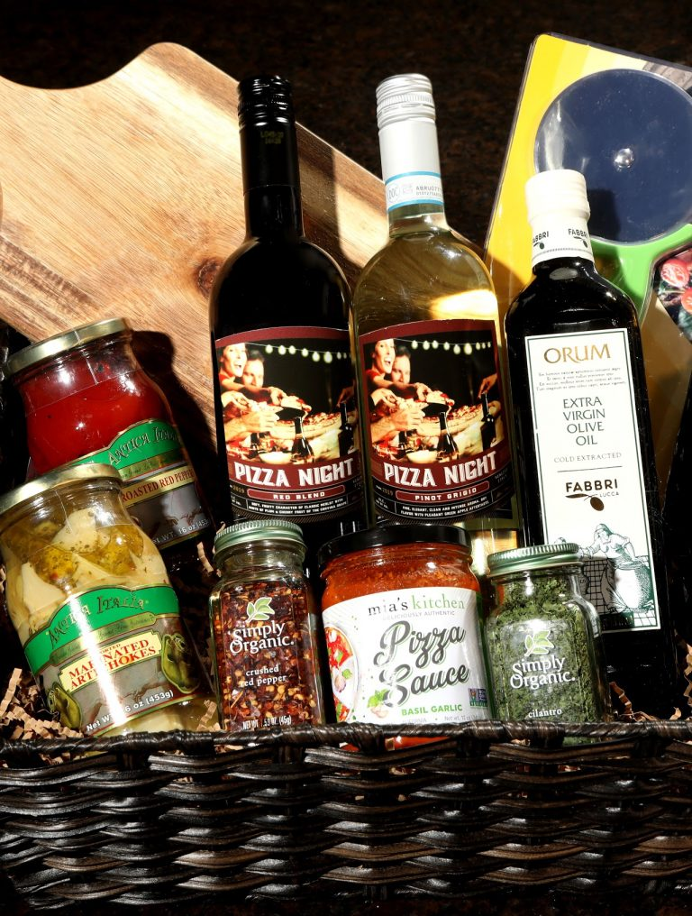 Theme Night WInes | Pizza Night DIY Wine Basket under $25