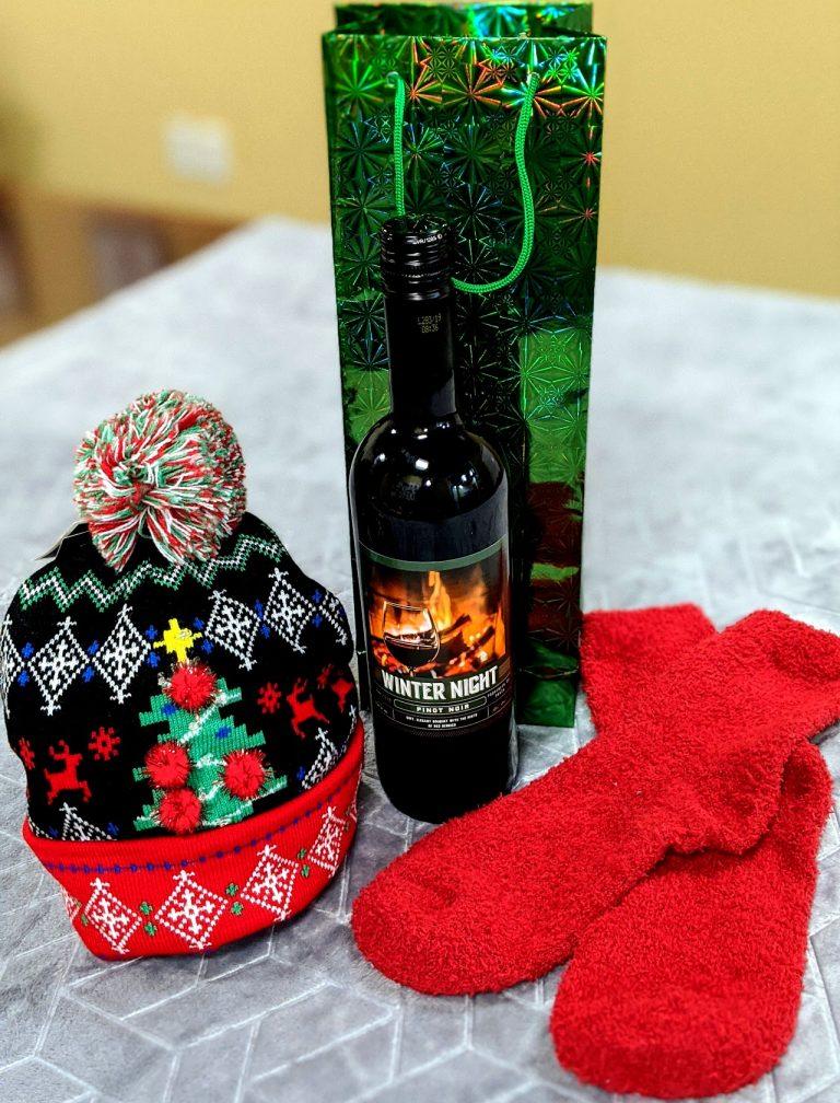 Theme Night WInes | Winter Night DIY Wine Basket under $25