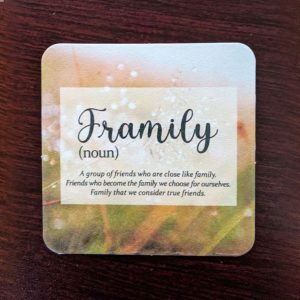 Framily 4 Pack Coasters
