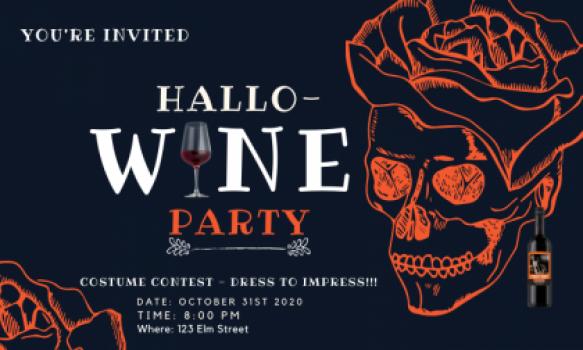 Hallowine Party Invitation