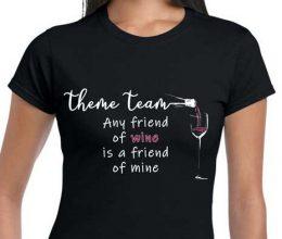 Theme Night Wines | Black Shirt Sample